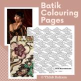 Indonesian Batik Colouring Pages (Batik Printable Patterns)