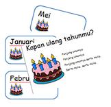 Indonesian Birthday Calendar