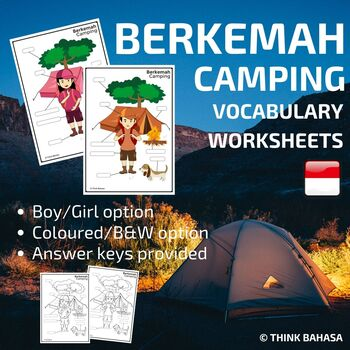 Indonesian Camping Vocabulary Worksheets | Berkemah