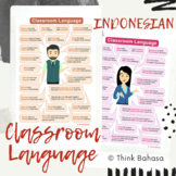 Indonesian Classroom Language Posters (with Female & Male Teacher Illustrations)