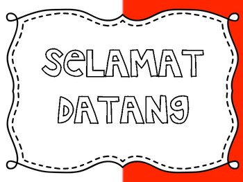 Indonesian Classroom Welcome Sign