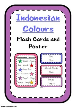 Indonesian Colour Flashcards and Posters
