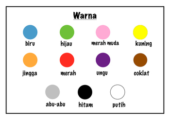 Warna - Indonesian Colours Poster