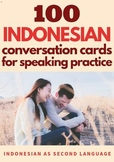 Indonesian Conversation Cards for Speaking Practice
