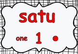 Indonesian Counting / Number Posters 1- 10