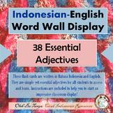 Indonesian - English Word Wall Adjectives 1