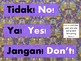 Indonesian-English Word Wall Exclamations
