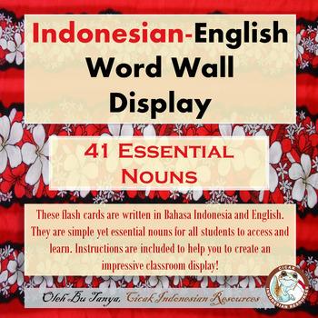 Indonesian - English Word Wall Nouns 1