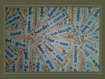 Indonesian - English Word Wall Verbs 1