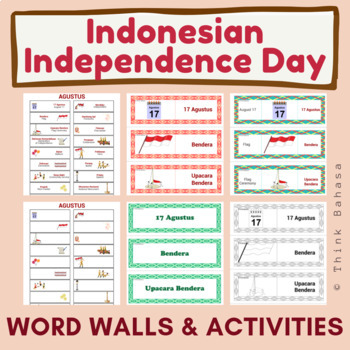 Indonesian Independence Day Word Walls and Activities (Hari Merdeka Indonesia)