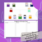 Indonesian Keluarga Personal Vocabulary Worksheets Customi