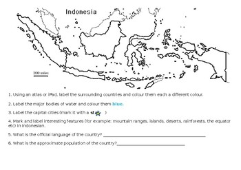 Indonesian Mapping by Miss Savage | Teachers Pay Teachers