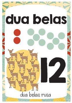 Indonesian Number Posters A4 | Menghitung Bahasa Indonesia