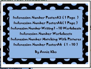 Indonesian Numbers and Worksheets