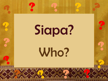 Indonesian Question & Answer Flashcards