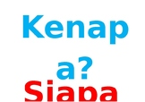 Indonesian Question Words