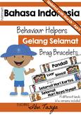 Indonesian Reward Bracelets  Bahasa Indonesia Brag Tag Bracelets