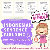 Indonesian Sight Word Sentence Building (3 & 4 words serie