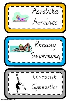 Indonesian Sports Flashcards