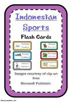 Indonesian Sports Flashcards