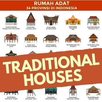 Indonesian Traditional Houses Poster Rumah Adat Indonesia 34