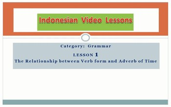 Indonesian Video Lessons