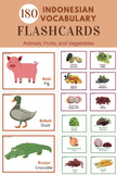180 Indonesian Vocabulary Flashcards (Fruits, Vegetables,