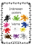 Indonesian colour posters