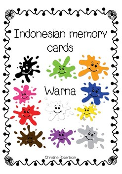 Indonesian colours memory cards