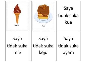 """Indonesian """"suka dan tidak suka"""""""