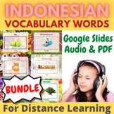 Indonesian vocabulary words distance learning GROWING BUNDLE