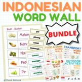 Indonesian word walls bundle (250 Indonesian vocabulary words)