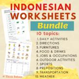 Indonesian worksheets bundle (10 topics)