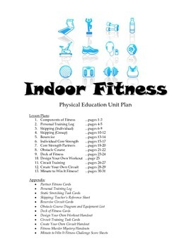 Indoor Fitness Unit Plan for Physical Education