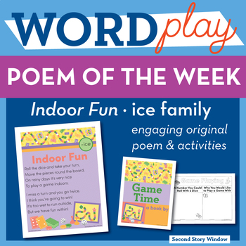 Indoor Fun -ice Word Family Poem of the Week