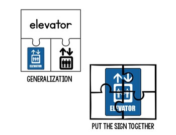Indoor/ Lobby Signs Puzzles (Special Education)