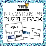 Indoor & Lobby Sign Puzzle Pack {Reading in Real Life}