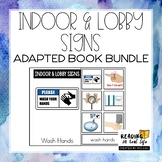 Indoor & Lobby Signs Adapted Books {Reading in Real Life}