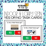 Indoor & Lobby Signs Yes or No Task Cards {Reading in Real Life}