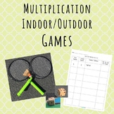 Indoor/Outdoor Single Digit and Two Digit Multiplication Math Games