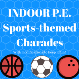 Indoor Rainy Day PE Sub Plans Sports Charades Classroom Game w Modifications FUN