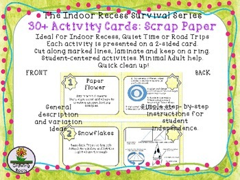 Indoor Recess Activities