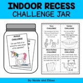 Indoor Recess Activities Jar