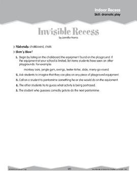 Indoor Recess: Dramatic Play (Ten-Minute Activities)