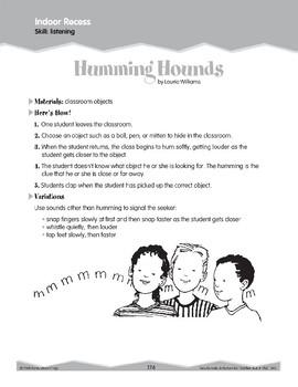 Indoor Recess: Listening and Observing (Ten-Minute Activities)