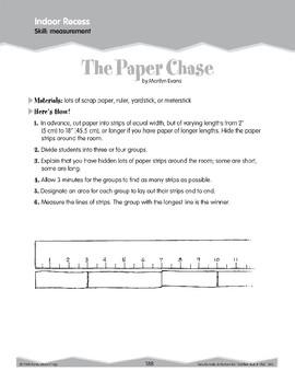 Indoor Recess: Measurement (Ten-Minute Activities)