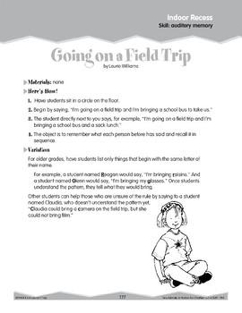 Indoor Recess: Memory Games (Ten-Minute Activities)