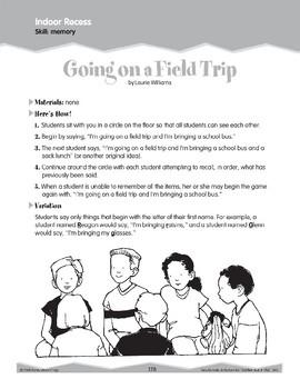 Indoor Recess: Memory (Ten-Minute Activities)