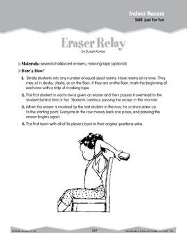 Indoor Recess: Relay Games (Ten-Minute Activities)