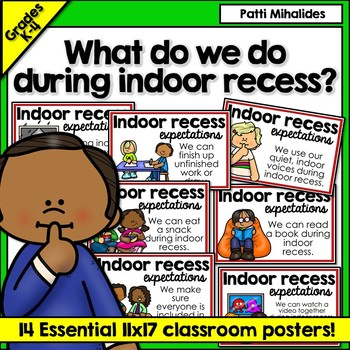 Indoor Recess Rules and Expectations Poster Set